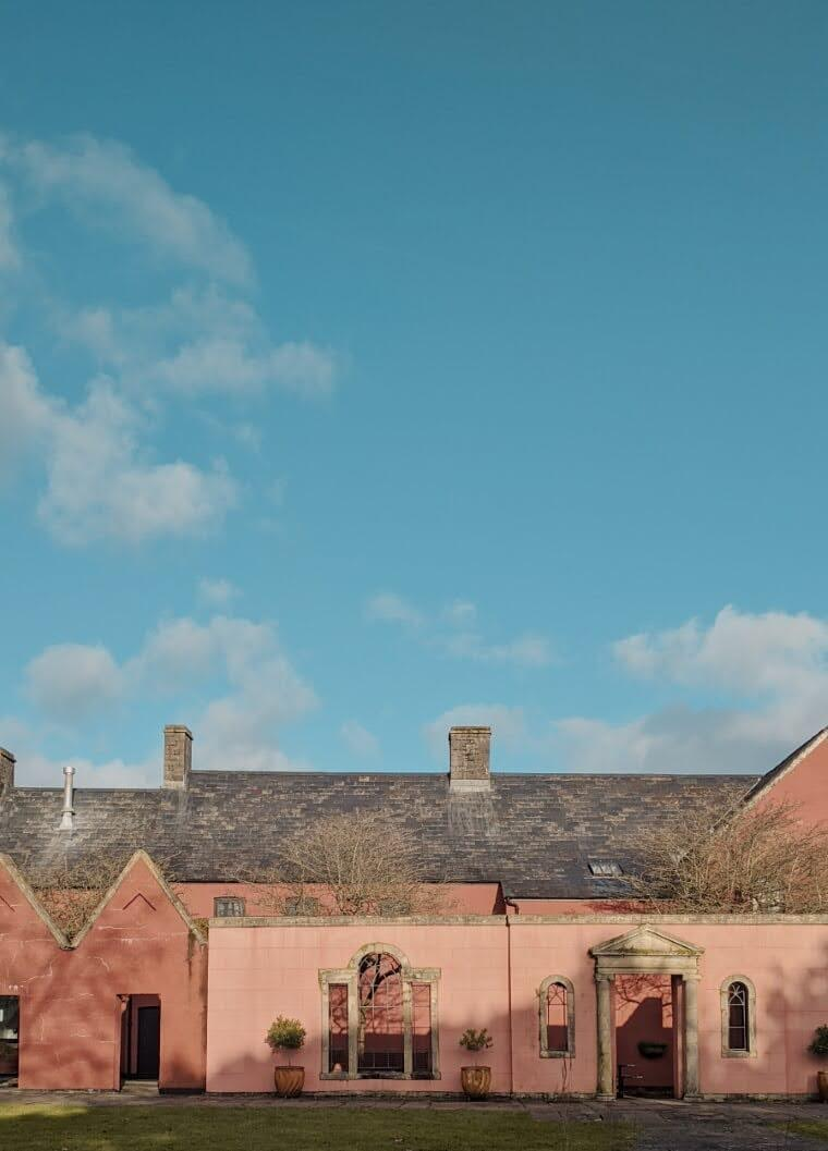 Pink houses in cowbridge, Wales | cardboardcities