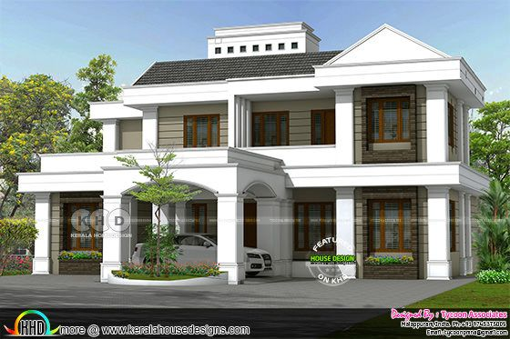 Colonial style 4 BHK 2850 square feet