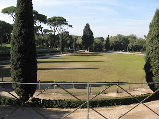 Piazza di Siena in Rome's Borghese Gardens, where Lunghi won the 400m and 700m events to qualify for the 1908 Olympics