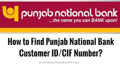 Find PNB Customer Id/CIF number