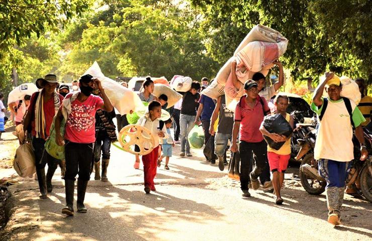 Otra masacre de tres personas, desplazamiento de 400, incursión paramilitar en Tibú, Norte de Santander