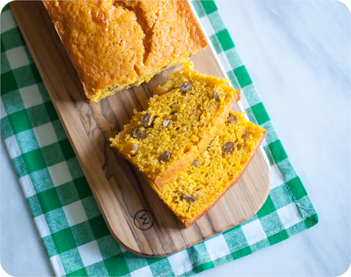 carrot ginger quick bread