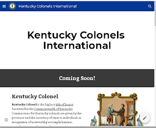 Screenshot of Kentucky Colonels website