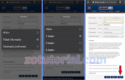 Tutorial Buka Deposito Bank BRI Lewat Internet Banking di HP Android
