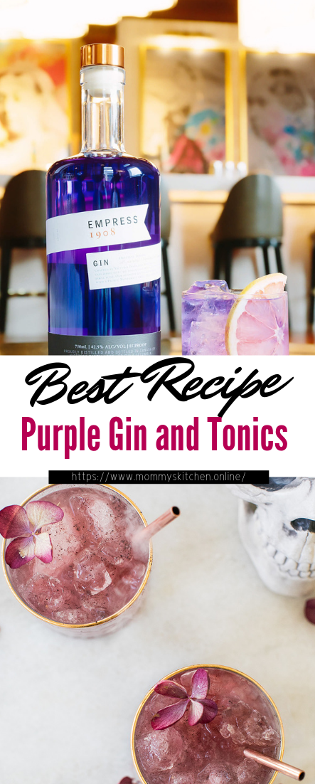 Purple Gin and Tonics #healthydrink #easyrecipe #cocktail #smoothie