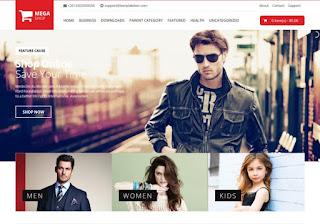 Mega Shop Blogger Template