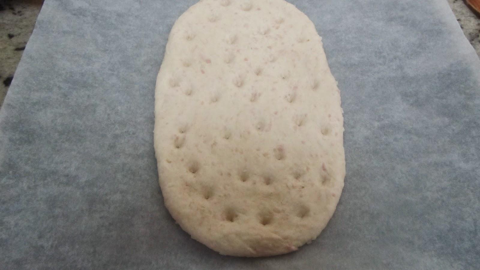 Focaccia de jamón y queso Thermomix