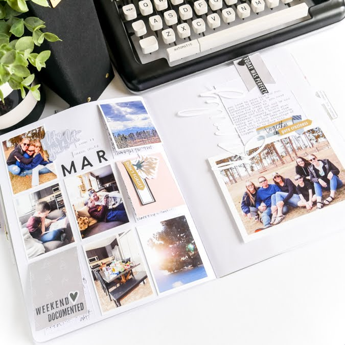 Documenting and scrapbooking in a weekly album not too different from Project Life. But much more streamlined. Using Heidi Swapp Storyline Chapters to tell your story.