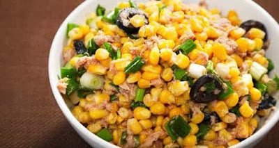 Corn and raw Mango salad recipe
