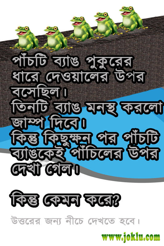 Five frogs riddle in Bengali