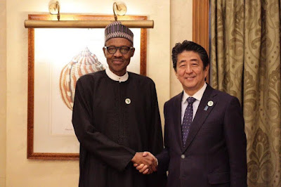 We will protect foreign investments in Nigeria, Pres Buhari assures Japanese Prime Minister
