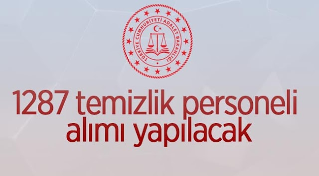 Adalet Bakanlığı Urfa'da temizlik görevlisi alıyor