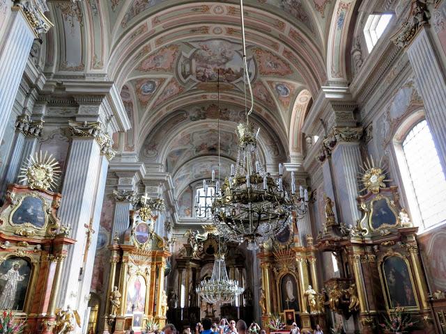 Inside St. Anne's Church in Warsaw, Poland