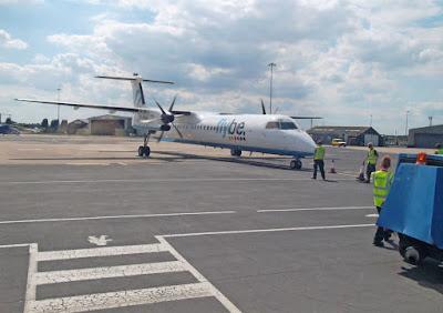 A plane at Humberside Airport in Kirmington