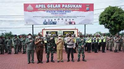 Bupati Asahan Hadiri Apel Gelar Pasukan Operasi Patuh Toba 2021