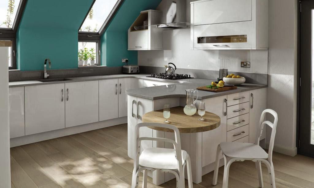 30 modelos de mesas y barras para cocinas de todos los for Cocinas angostas