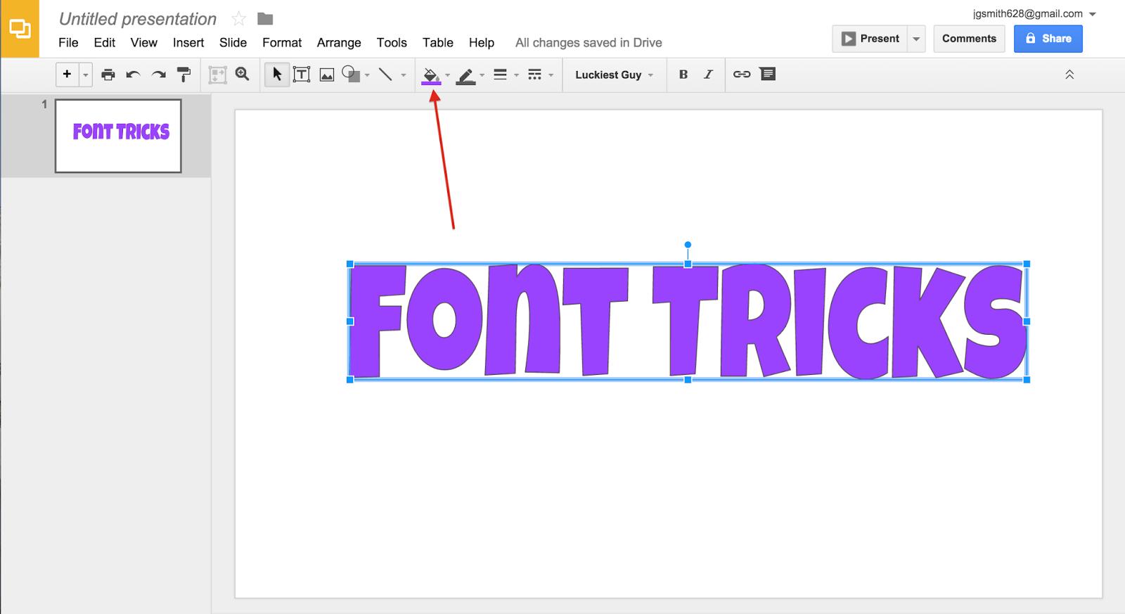 font tricks the techie teacher