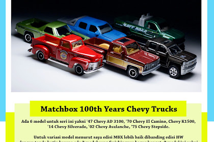 Matchbox 100 Year Chevy Truck 2018
