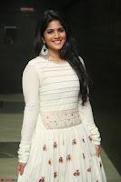 Megha Akash in beautiful White Anarkali Dress at Pre release function of Movie LIE ~ Celebrities Galleries 046.JPG