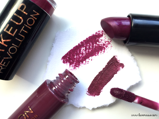 My favourite autumnal/fall lipsticks | Makeup Revolution | Love, Maisie