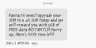 Get 5GB free on MTN
