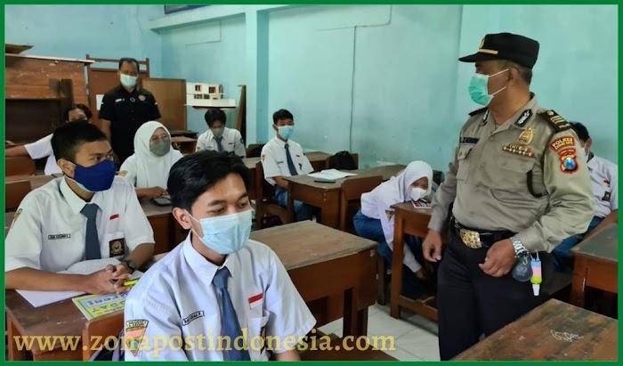 Polres Kediri Kota Lakukan PPSS Untuk Mengontrol Pembelajaran Tatap Muka (PTM)