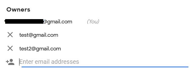 reCAPTCHA account