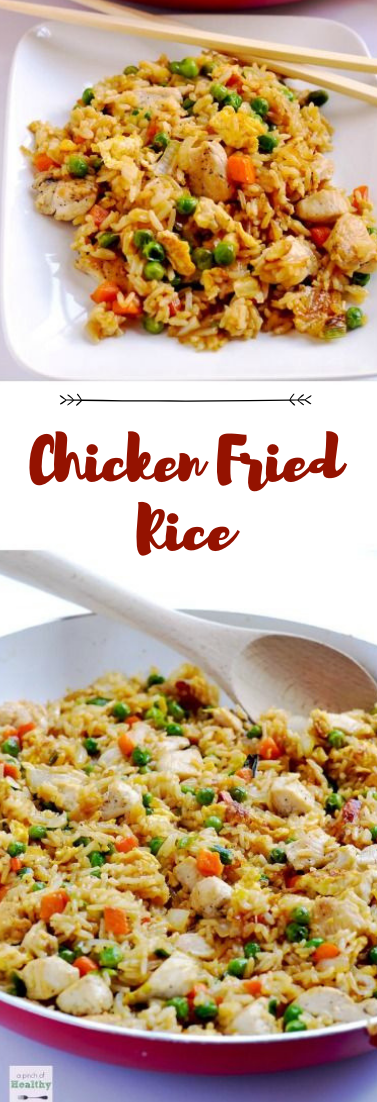 Chicken Fried Rice #dinnerrecipe #food