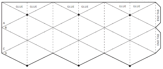 plantilla, papiroflexia, flexagono