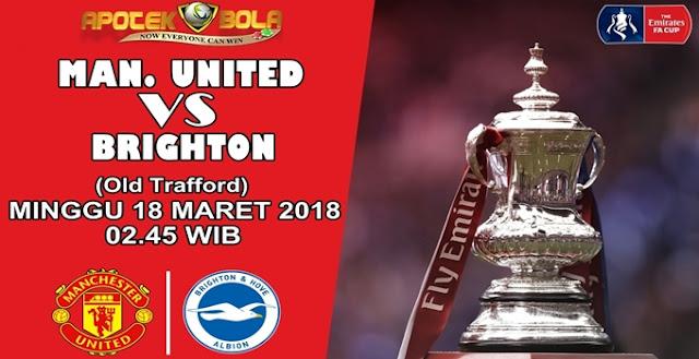 Prediksi Manchester United vs Brighton 18 Maret 2018