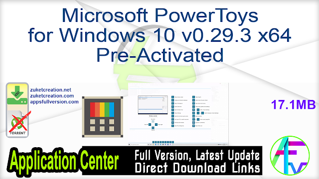 Microsoft PowerToys for Windows 10 v0.29.3 x64 Pre-Activated