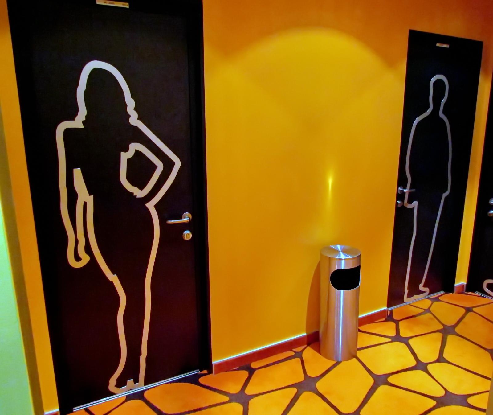 curious toilet signs in AIDAsol cruise ship
