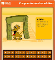 http://learnenglishkids.britishcouncil.org/en/grammar-practice/comparatives-and-superlatives