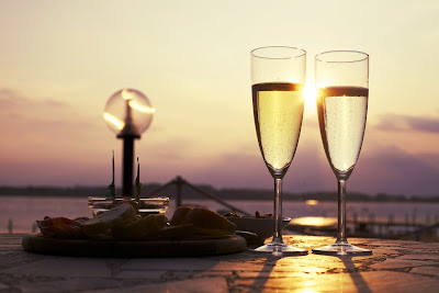 A celebration-wine in glasses