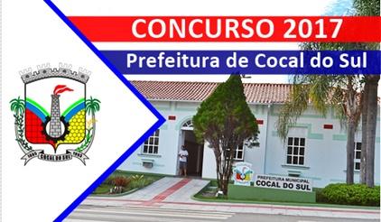 Concurso Prefeitura de Cocal do Sul 2017