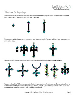 Beaded Cross and Trident