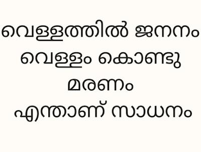 Vellathil Jananam Vellam Kond Maranam