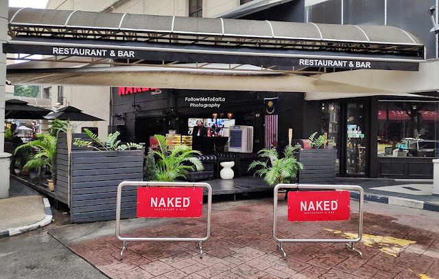 NAKED Restaurant And Bar Offers GRABFood with GRABPay E-Wallet Delivery Services