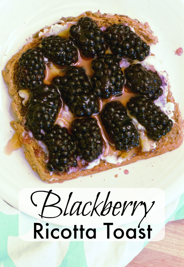 Blackberry Ricotta Toast