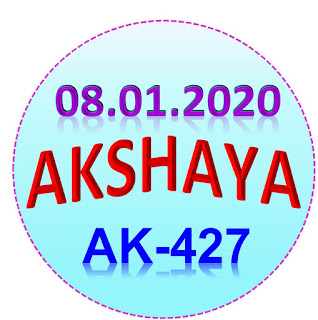 Kerala Lottery Result Akshaya Ak-427 dated 08.01.2020