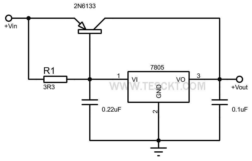7805 High current voltage regulator
