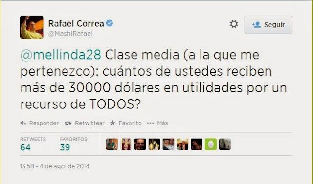Se burlan de Rafael Correa