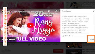 Embed Youtube Video In Blogger 2