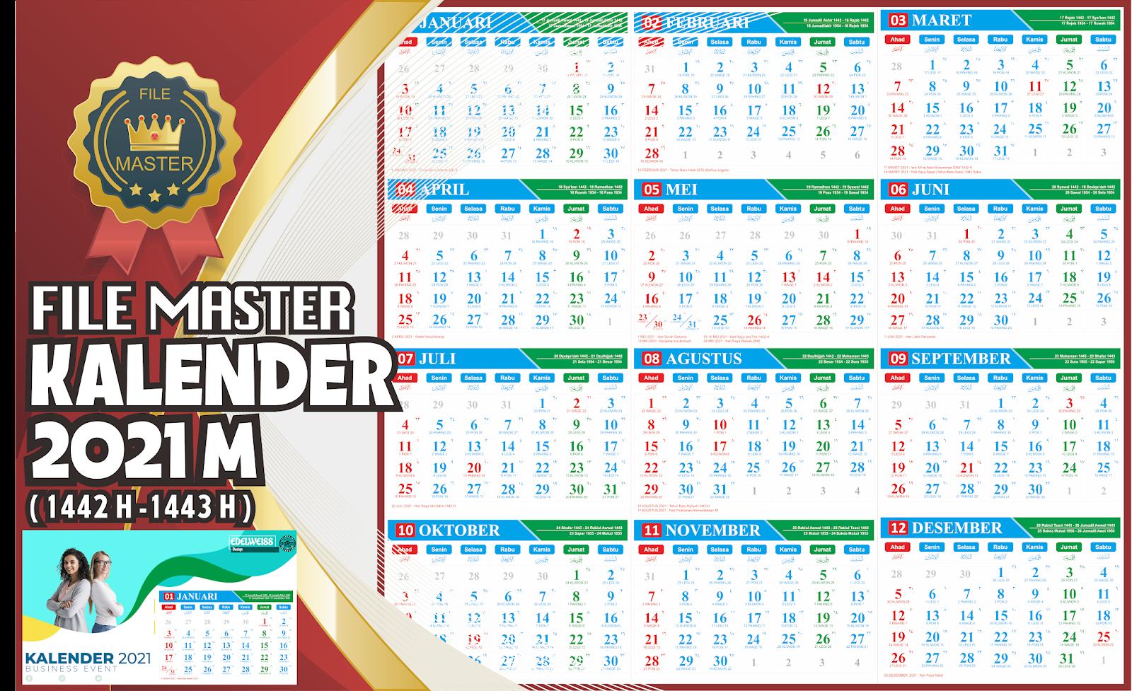 Download File Kalender 2021 Cdr