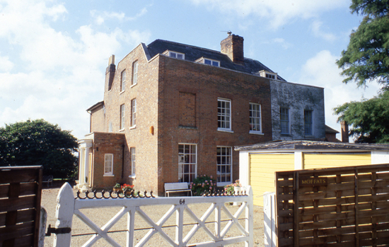 Photograph of Moffats House in 1982 Image from the NMLHS