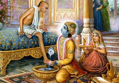 Bhagwan Shri Krishna Image with Friend Sudama