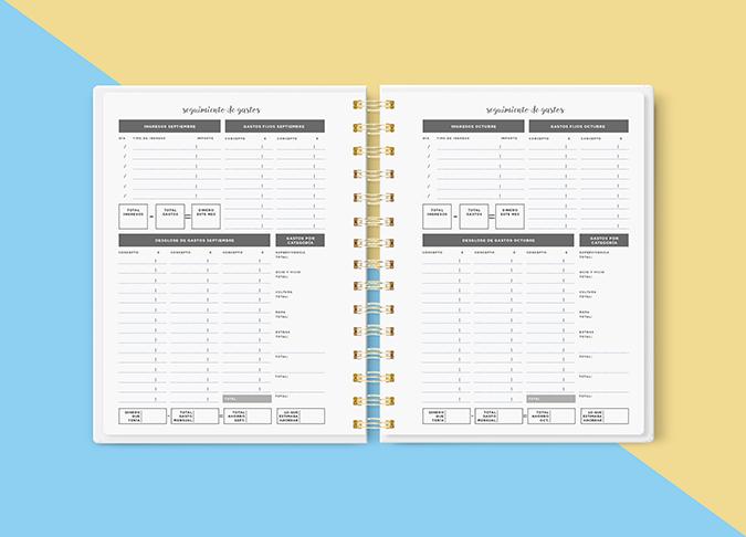 agenda permanente imprimible personalizable