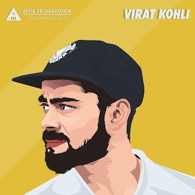 Virat Kohli  - Vector X Vexel Art - Akhil Devarakonda