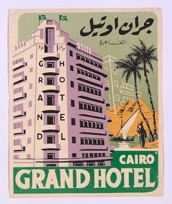 Grand Hotel Cairo luggage label