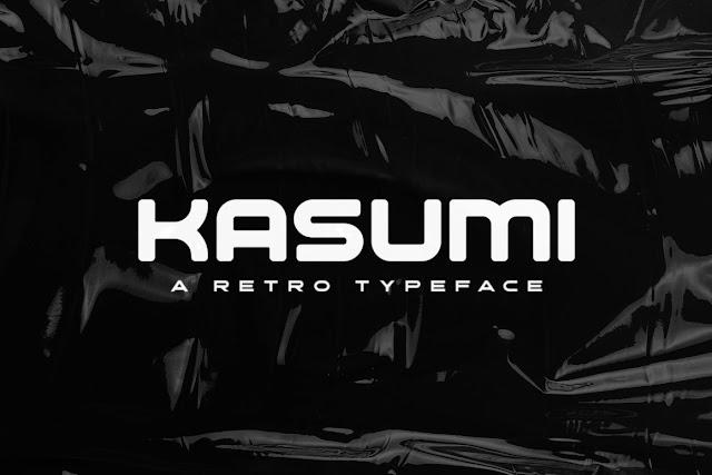Ретро шрифт Kasumi